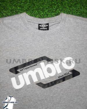 Серая футболка Umbro Graphic Tee 64101U эмблема