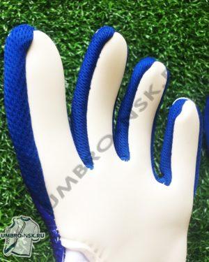 Вратарские перчатки HO Soccer CLONE SUPREMO II NEGATIVE STORM BLUE пальцы