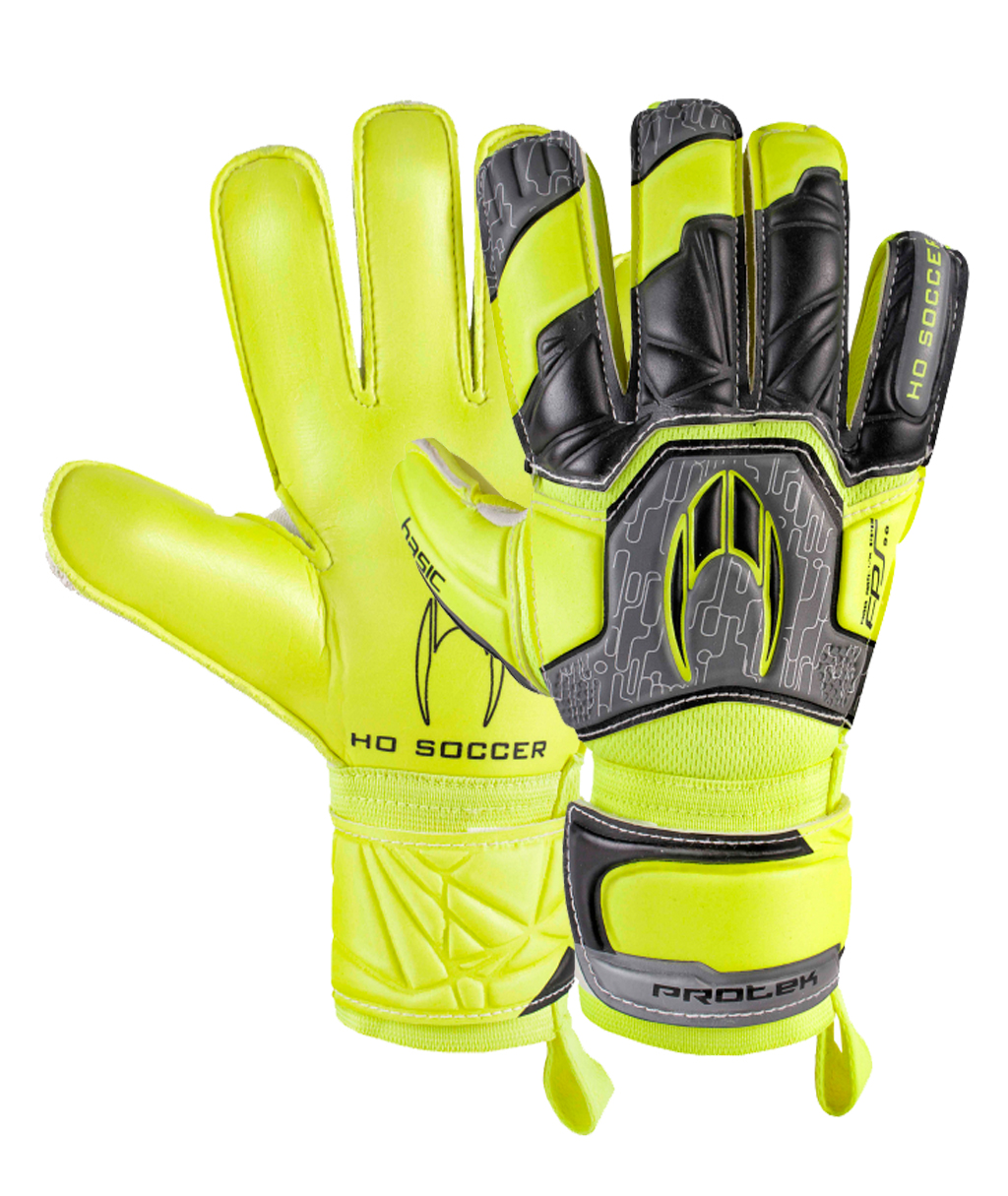 Перчатки вратарские HO Soccer BASIC PROTEK FLAT POWER LIME 051.0717