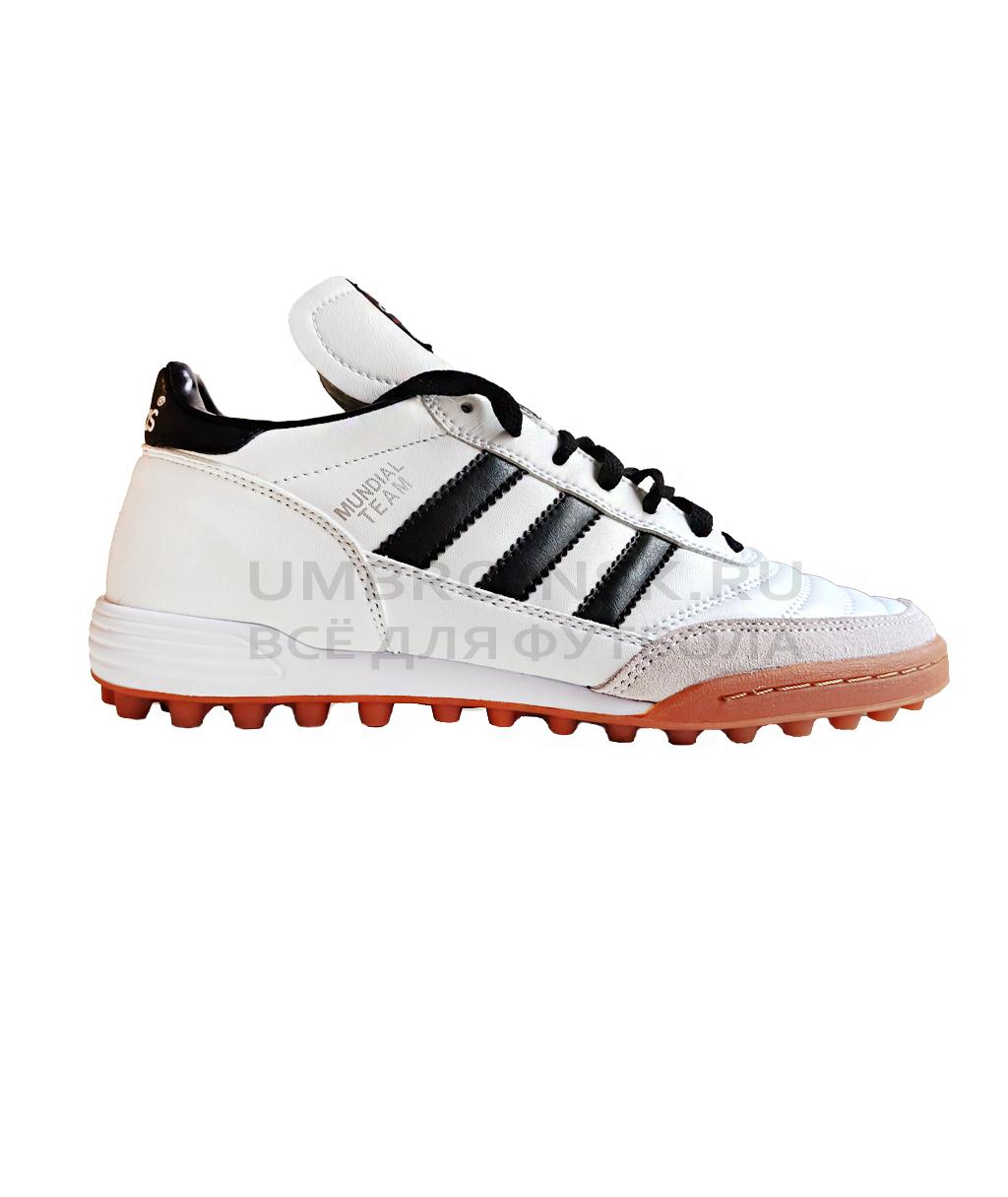 Белые шиповки Adidas Mundial Team TF