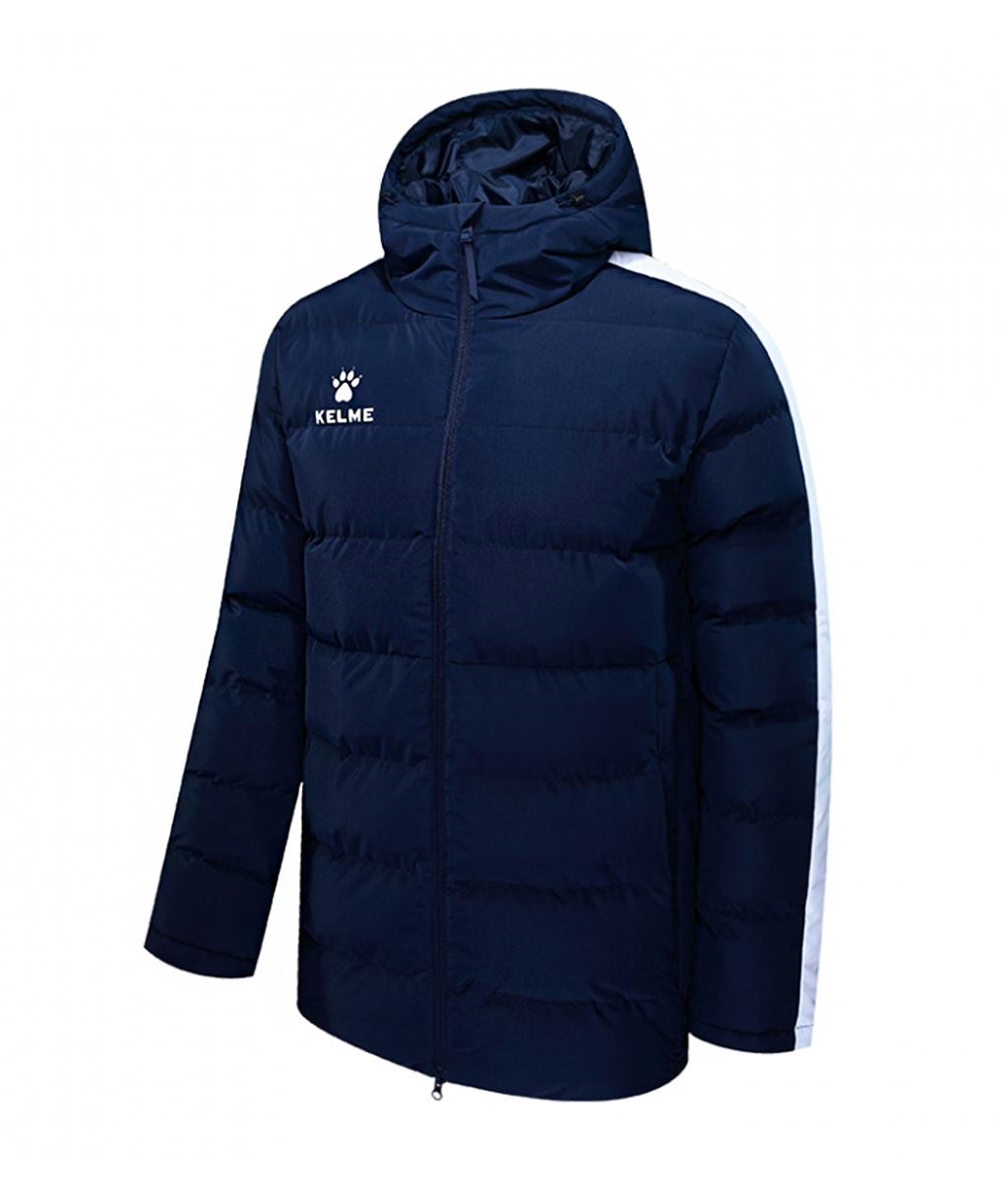 Тёмно-синяя утеплённая куртка Kelme Adult Padded Jacket 3881405-424