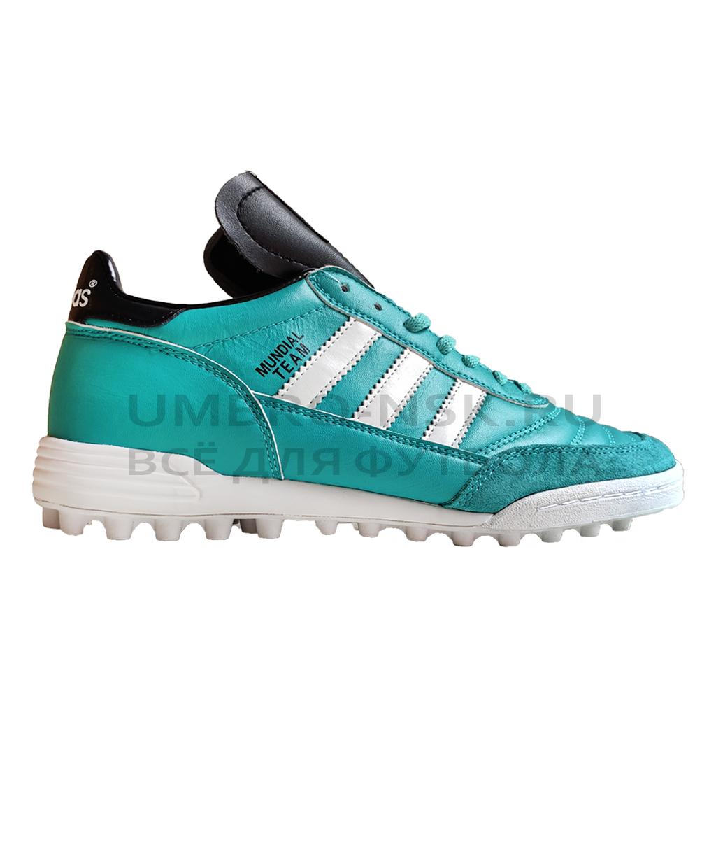 Купить Шиповки Adidas Mundial Team TF Бирюзовые